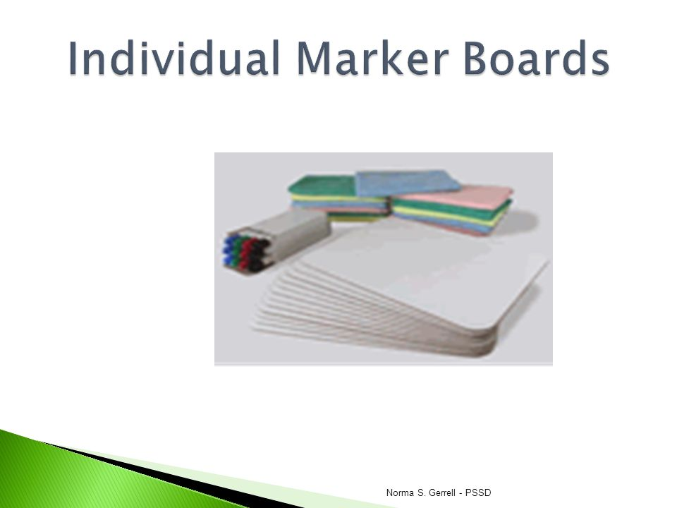 Individual Marker Boards