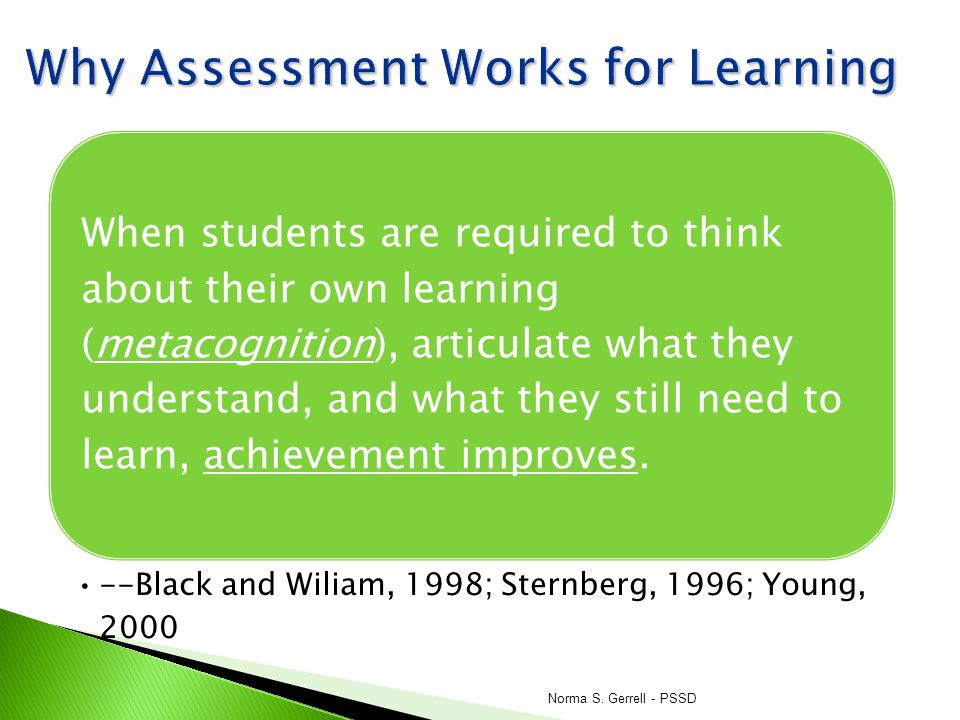 Why Assessment Works for Learning