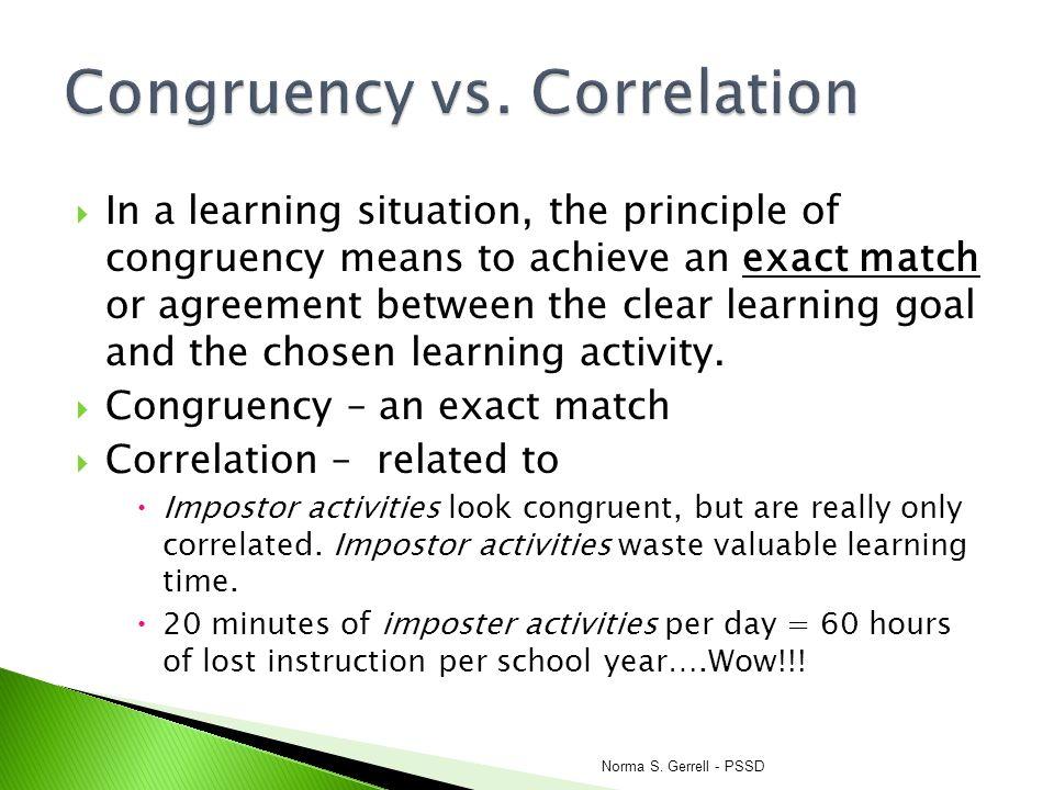 Congruency vs. Correlation