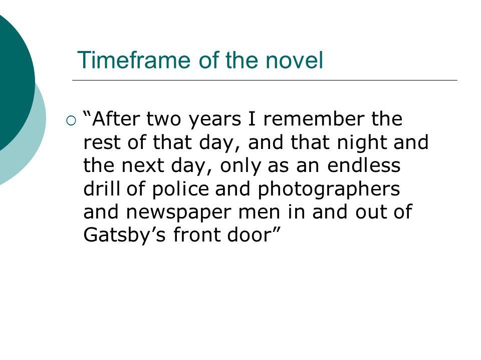Timeframe of the novel