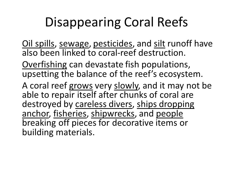 Disappearing Coral Reefs