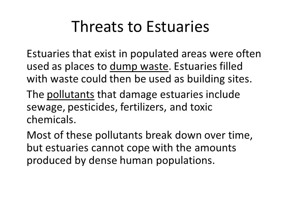Threats to Estuaries