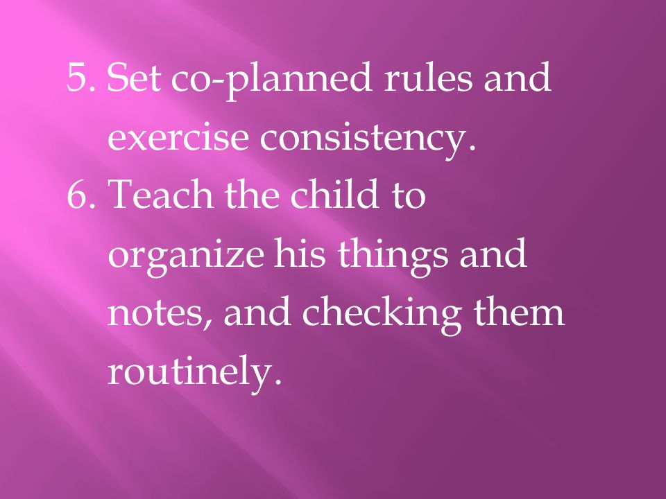 5. Set co-planned rules and