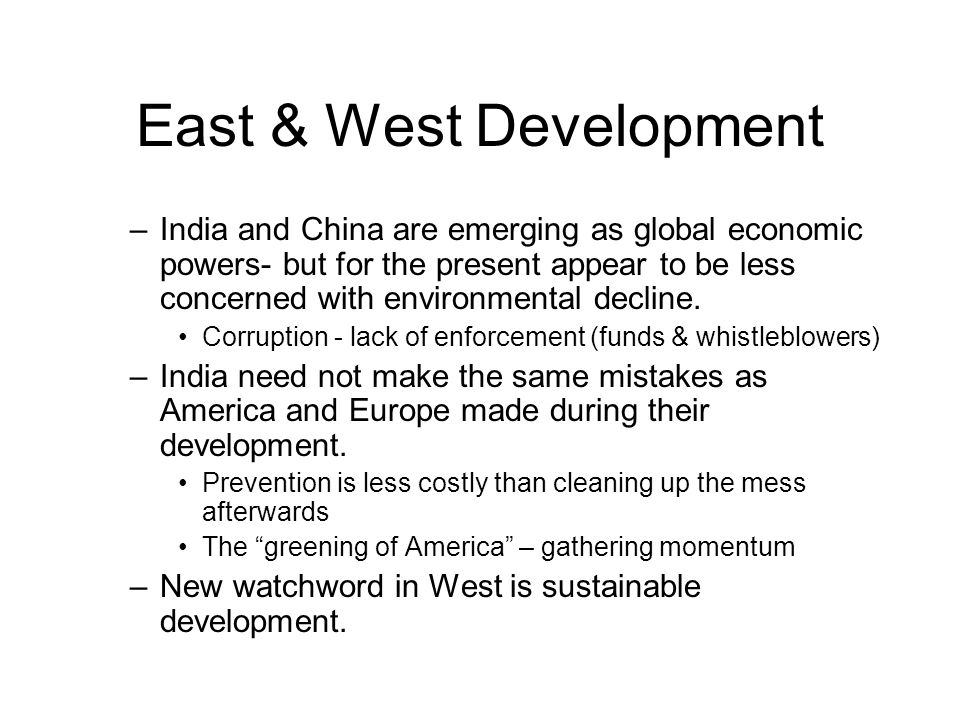 East & West Development