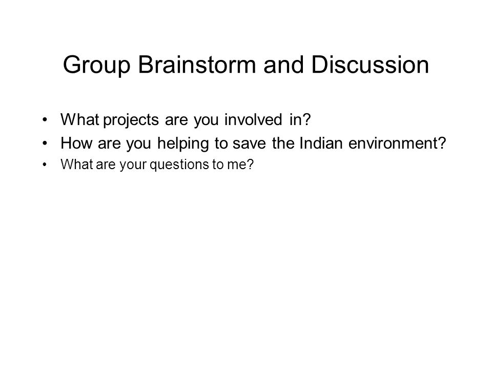 Group Brainstorm and Discussion