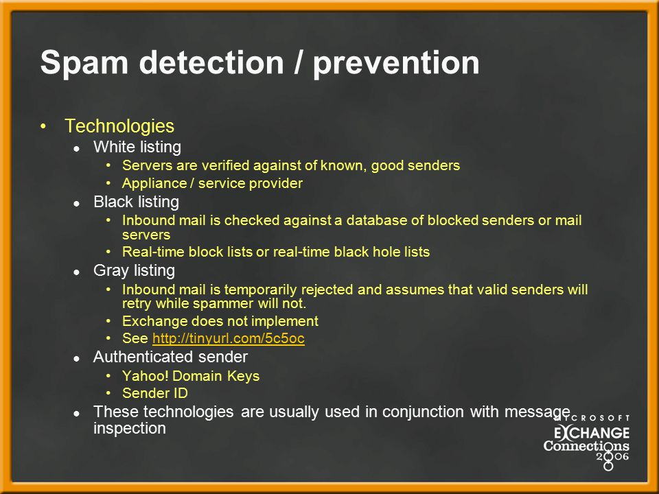 Spam detection / prevention