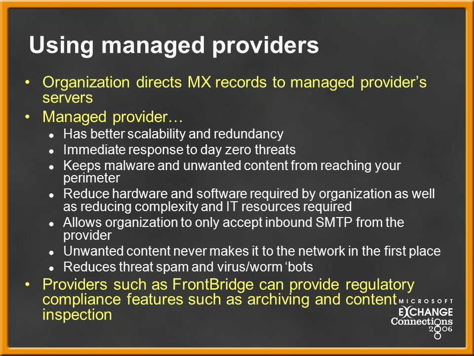 Using managed providers