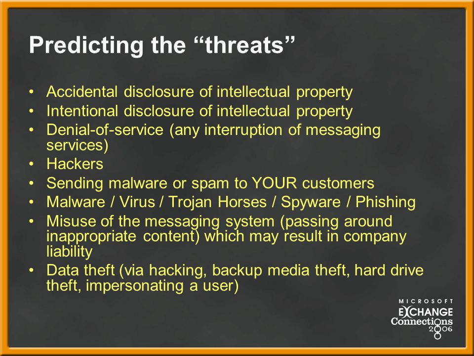 Predicting the threats