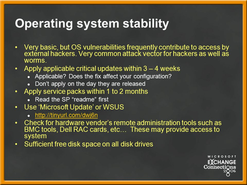 Operating system stability