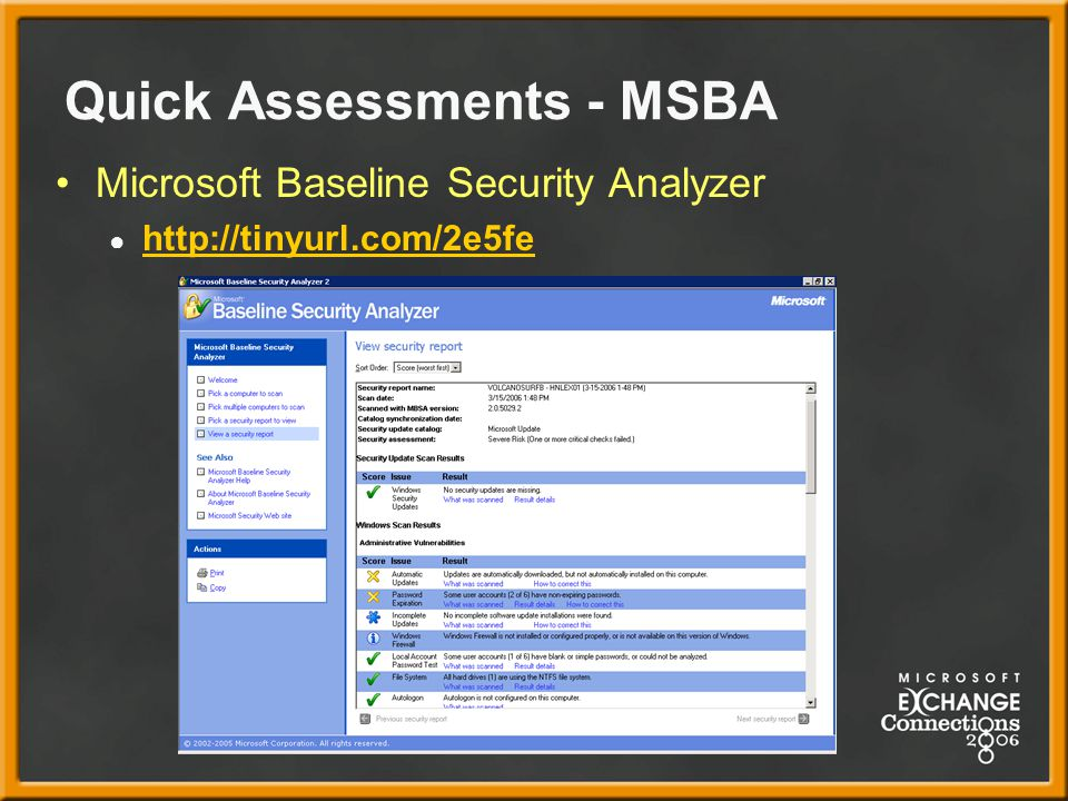 Quick Assessments - MSBA