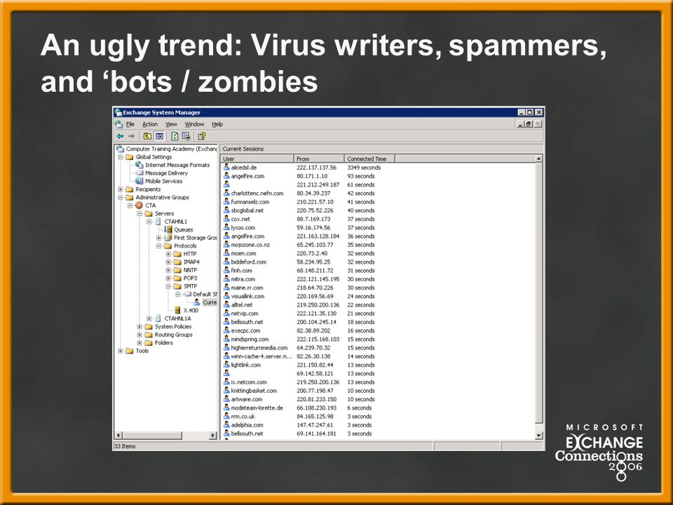 An ugly trend: Virus writers, spammers, and 'bots / zombies