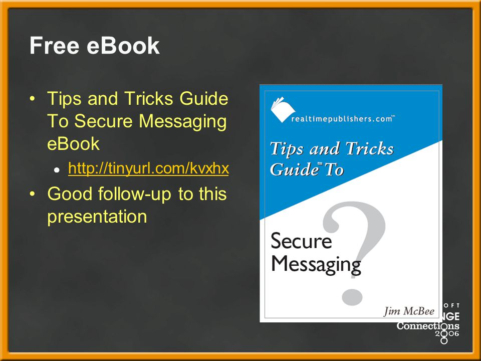 Free eBook Tips and Tricks Guide To Secure Messaging eBook