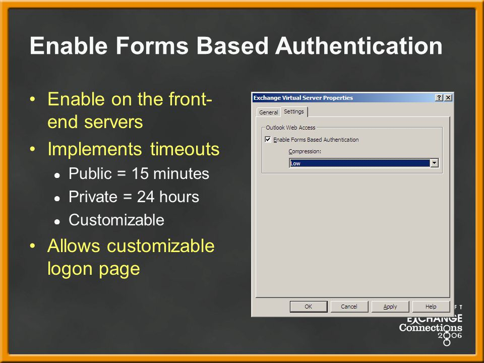 Enable Forms Based Authentication