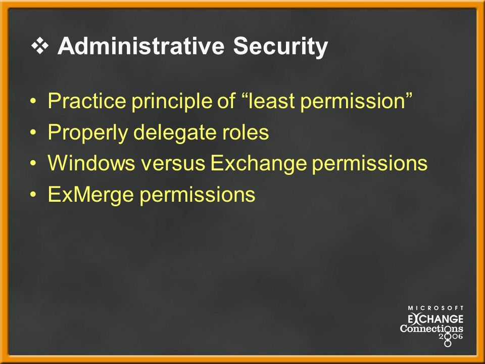 Administrative Security