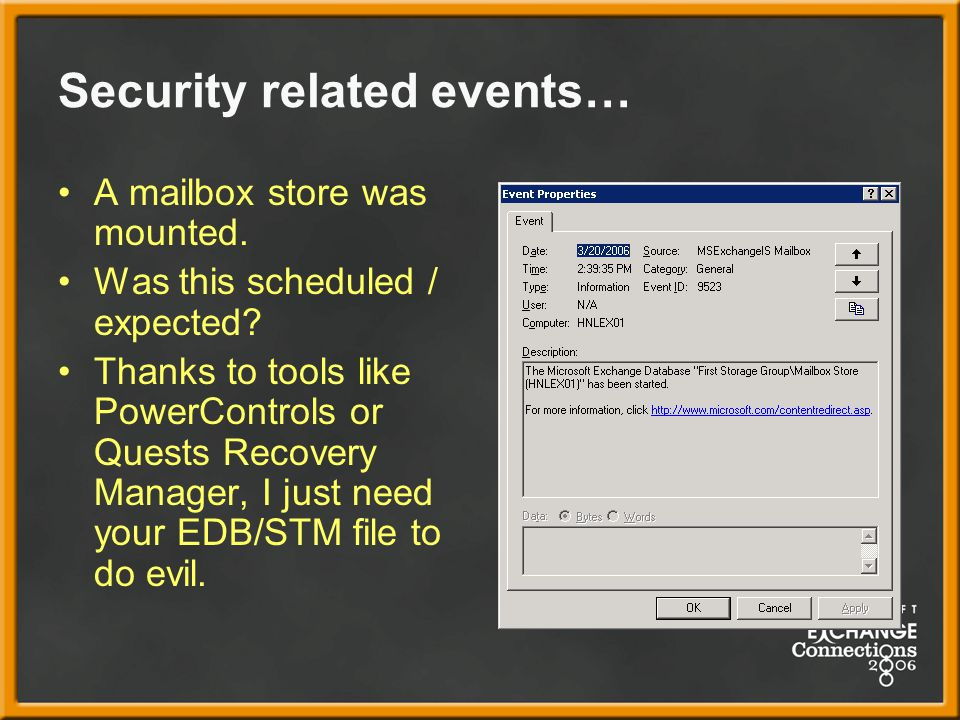 Security related events…