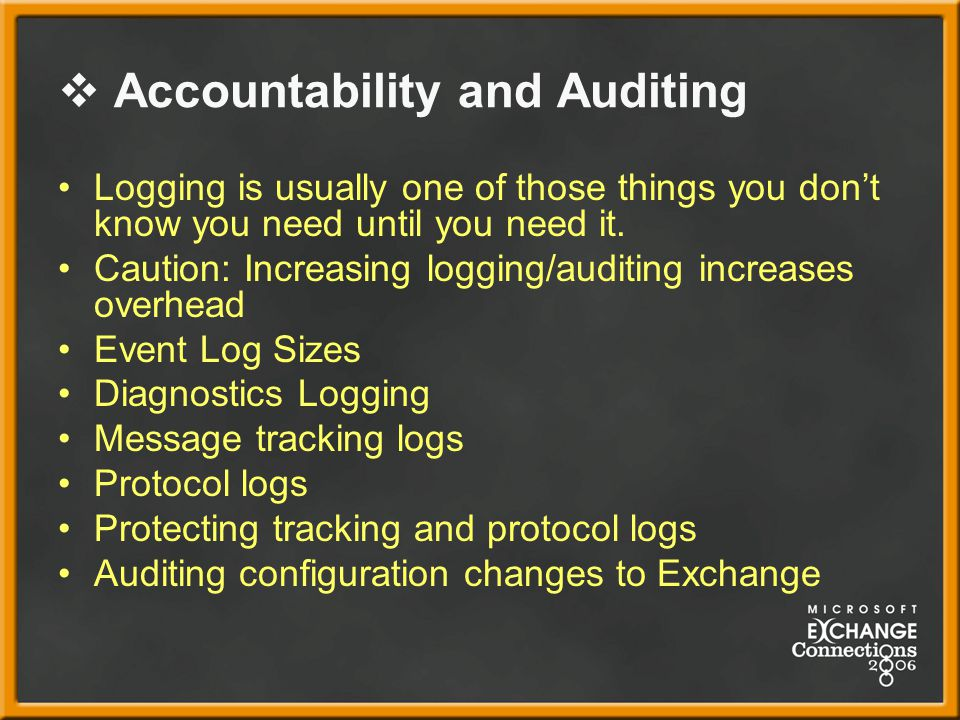 Accountability and Auditing