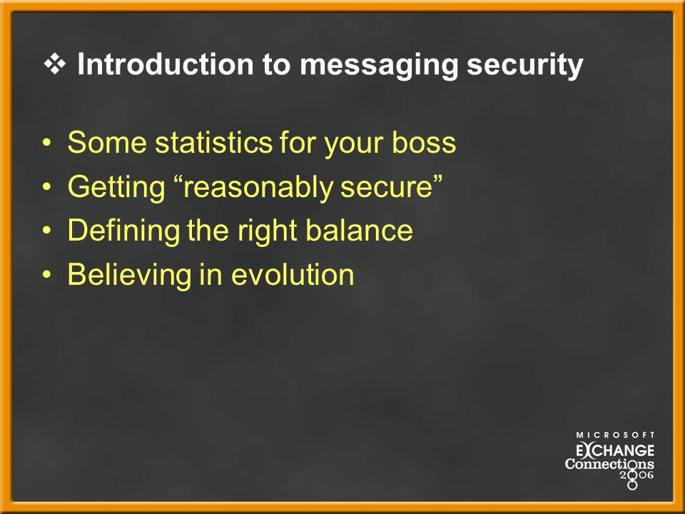 Introduction to messaging security