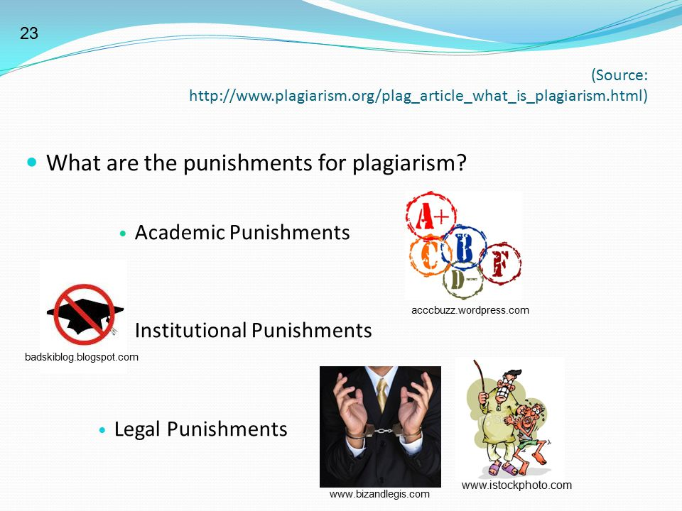 What are the punishments for plagiarism
