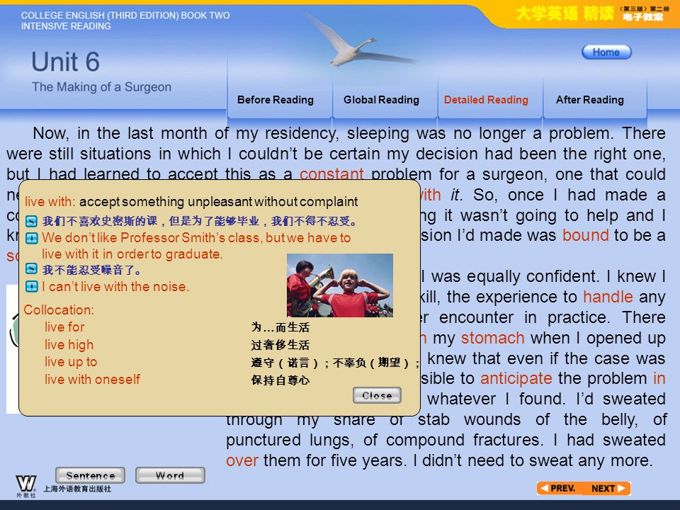 Article3_W_live with Before Reading. Global Reading. Detailed Reading. After Reading.