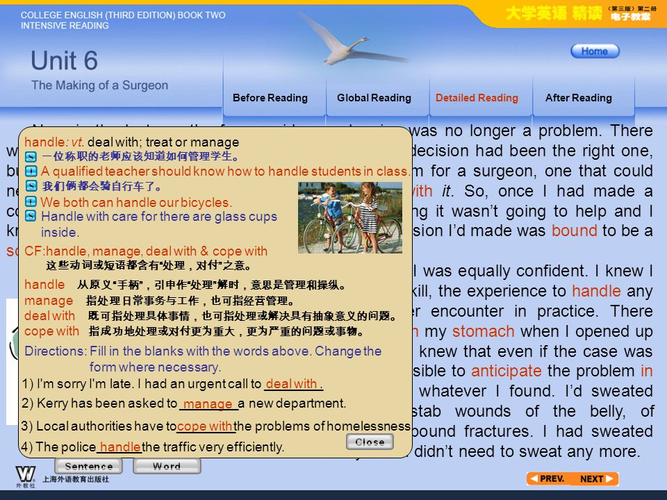 Article3_W_handle Before Reading. Global Reading. Detailed Reading. After Reading.
