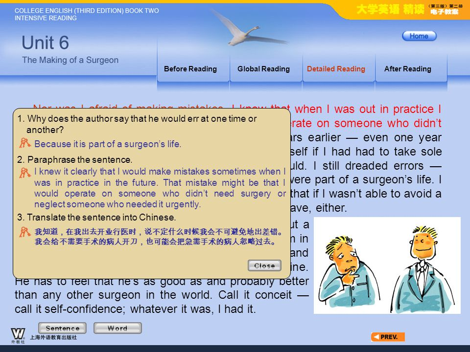 Article4_S_2 Before Reading. Global Reading. Detailed Reading. After Reading.