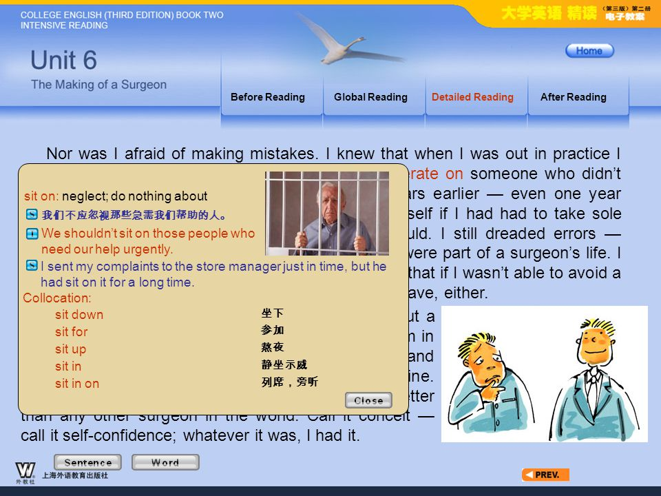 Article4_W_sit on Before Reading. Global Reading. Detailed Reading. After Reading.