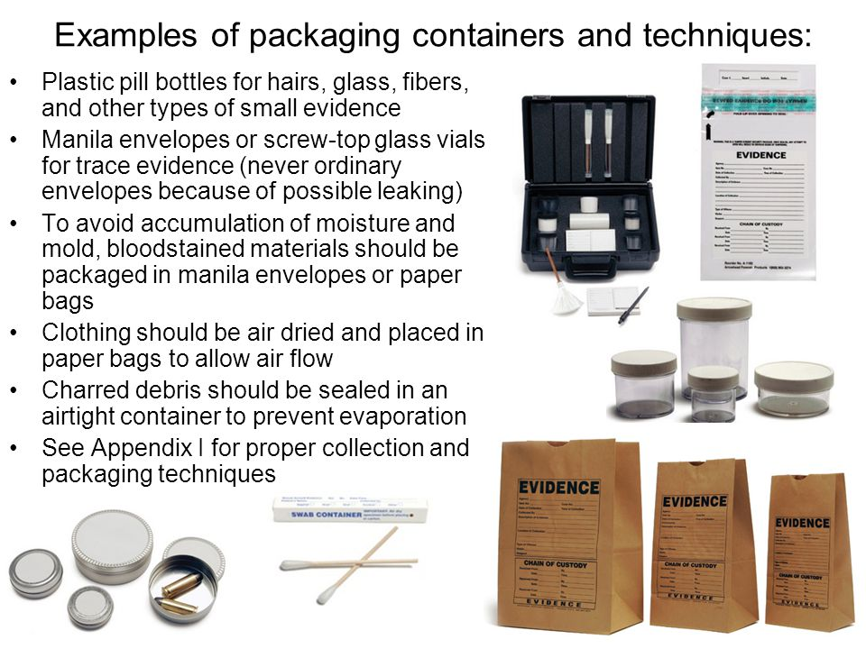 Examples of packaging containers and techniques: