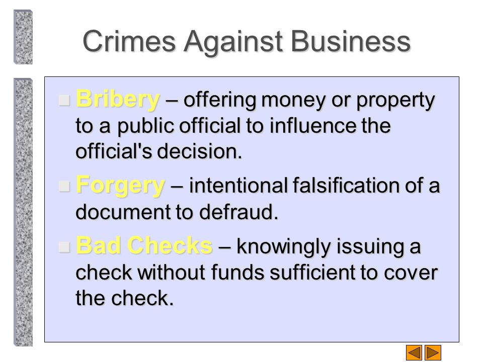 Crimes Against Business