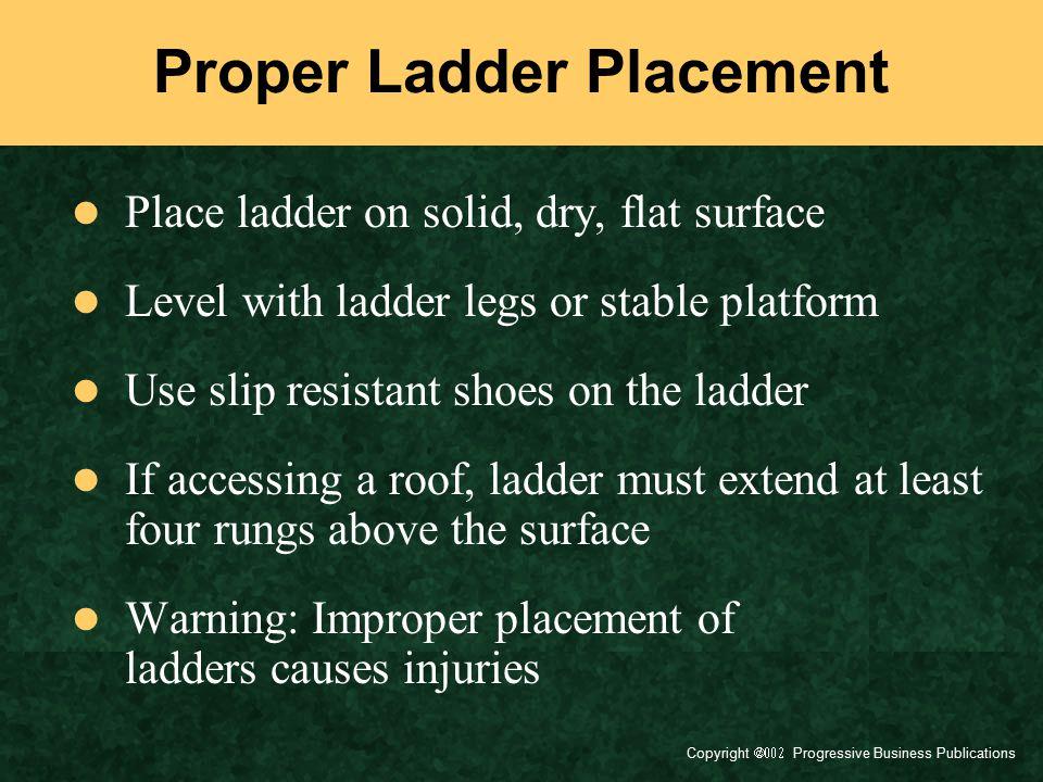 Proper Ladder Placement