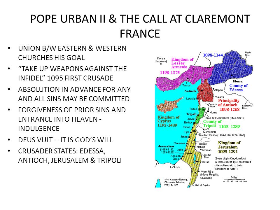 POPE URBAN II & THE CALL AT CLAREMONT FRANCE