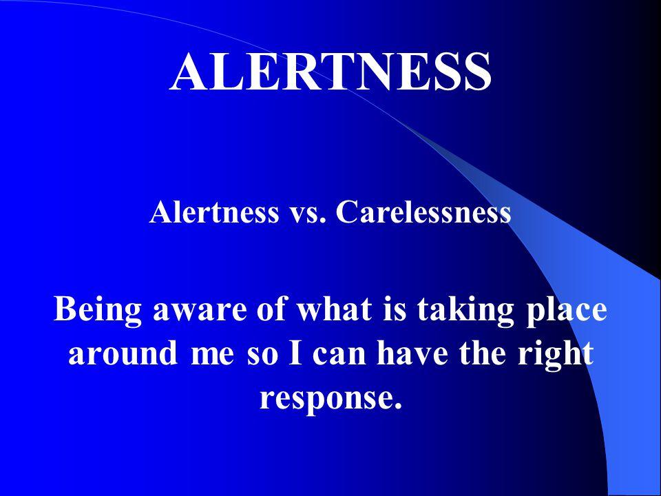 Alertness vs. Carelessness