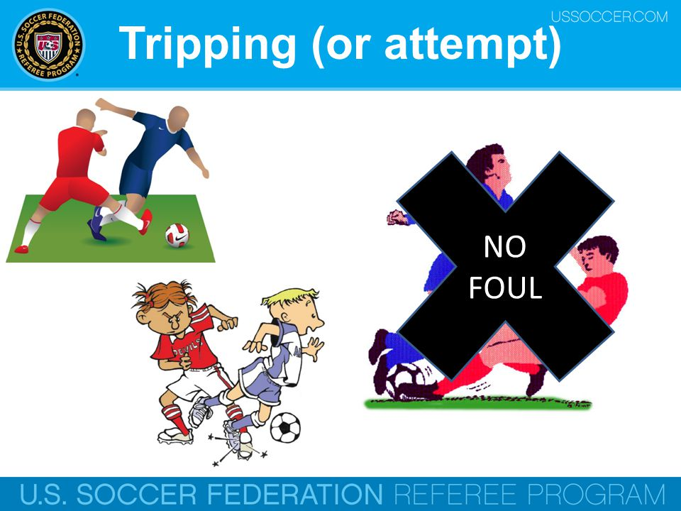 Tripping (or attempt) NO FOUL Online Training Script:
