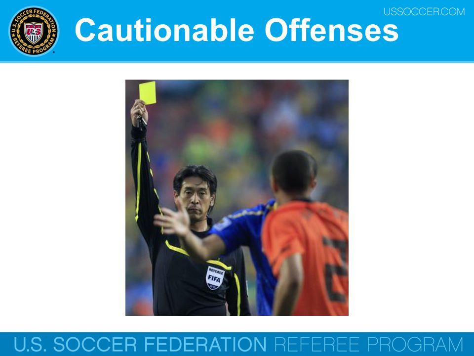 Cautionable Offenses Online Training Script: