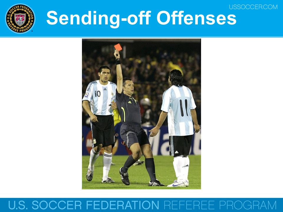 Sending-off Offenses Online Training Script: