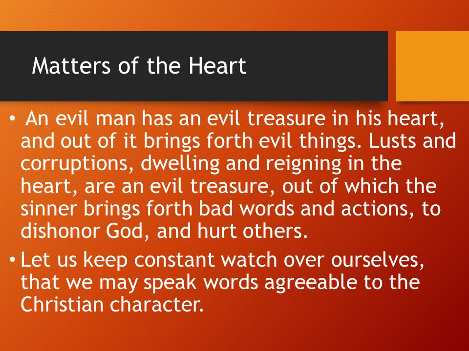 Matters of the Heart