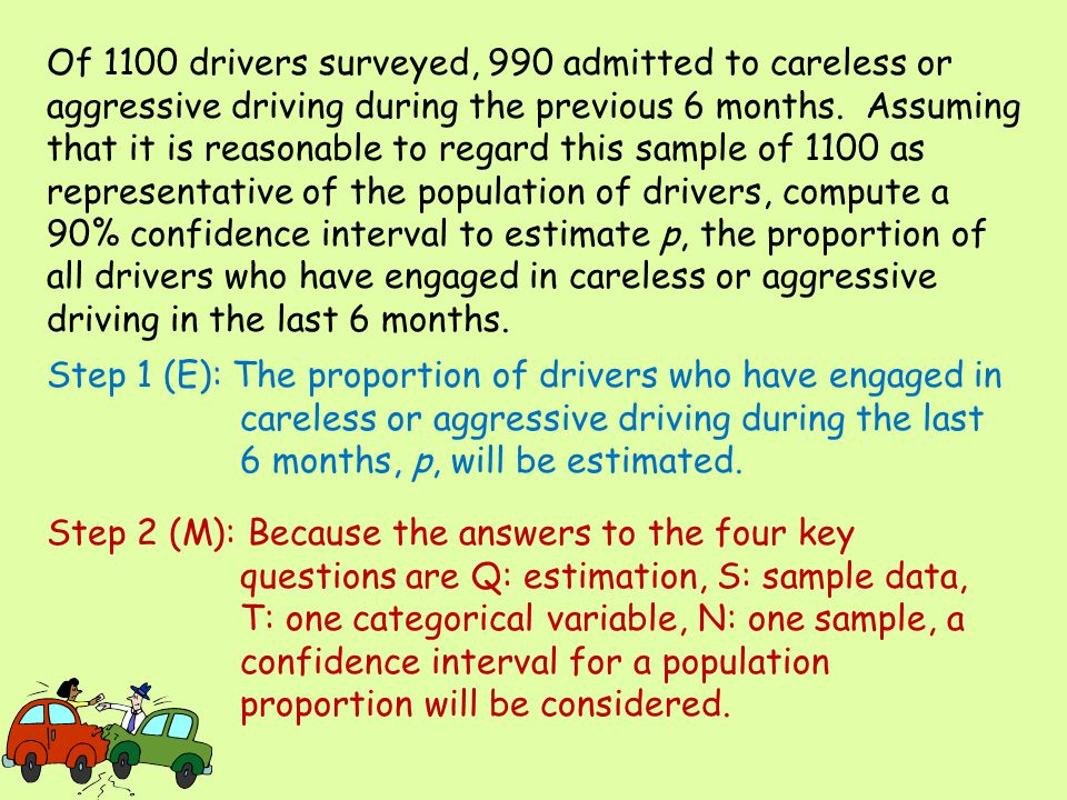 Of 1100 drivers surveyed, 990 admitted to careless or aggressive driving during the previous 6 months. Assuming that it is reasonable to regard this sample of 1100 as representative of the population of drivers, compute a 90% confidence interval to estimate p, the proportion of all drivers who have engaged in careless or aggressive driving in the last 6 months.