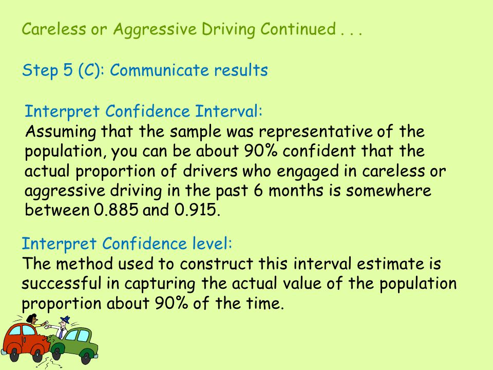 Careless or Aggressive Driving Continued . . .