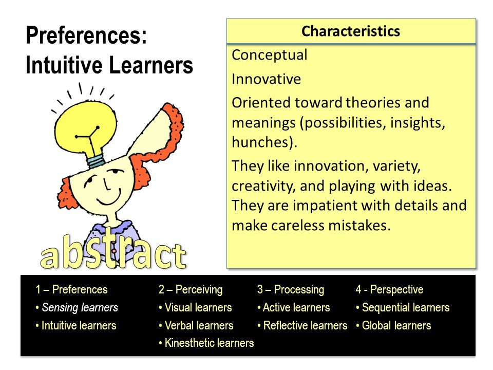 Preferences: Intuitive Learners
