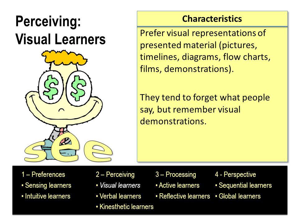 Perceiving: Visual Learners