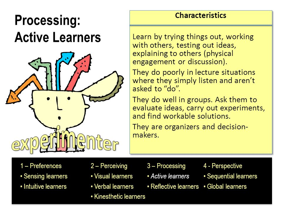 Processing: Active Learners