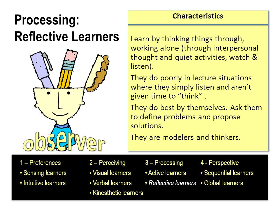 Processing: Reflective Learners