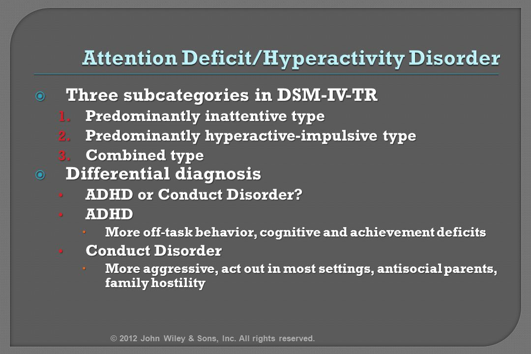 hyperactivity and add attention deficit disorder psychology essay Attention deficit/hyperactivity disorder john mooney 412 psychology dr jim spencer west virginia state university 4 may 2012 abstract attention.
