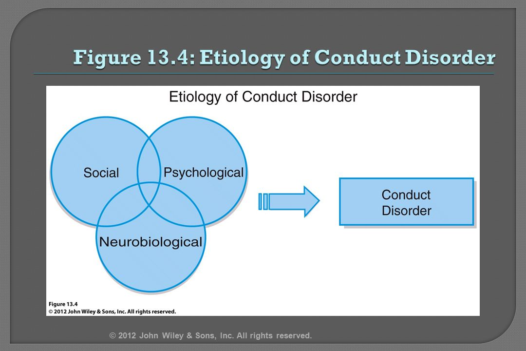 Figure 13.4: Etiology of Conduct Disorder