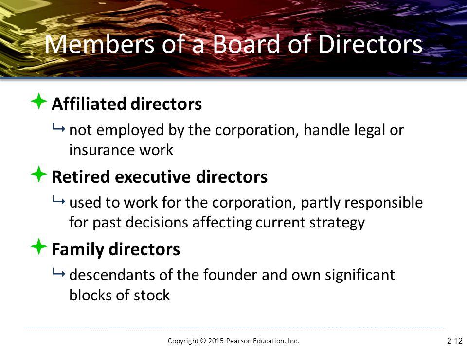 Members of a Board of Directors