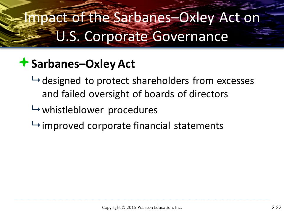 Impact of the Sarbanes–Oxley Act on U.S. Corporate Governance