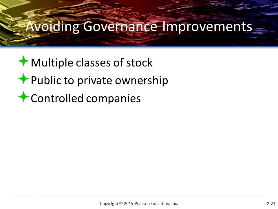 Avoiding Governance Improvements