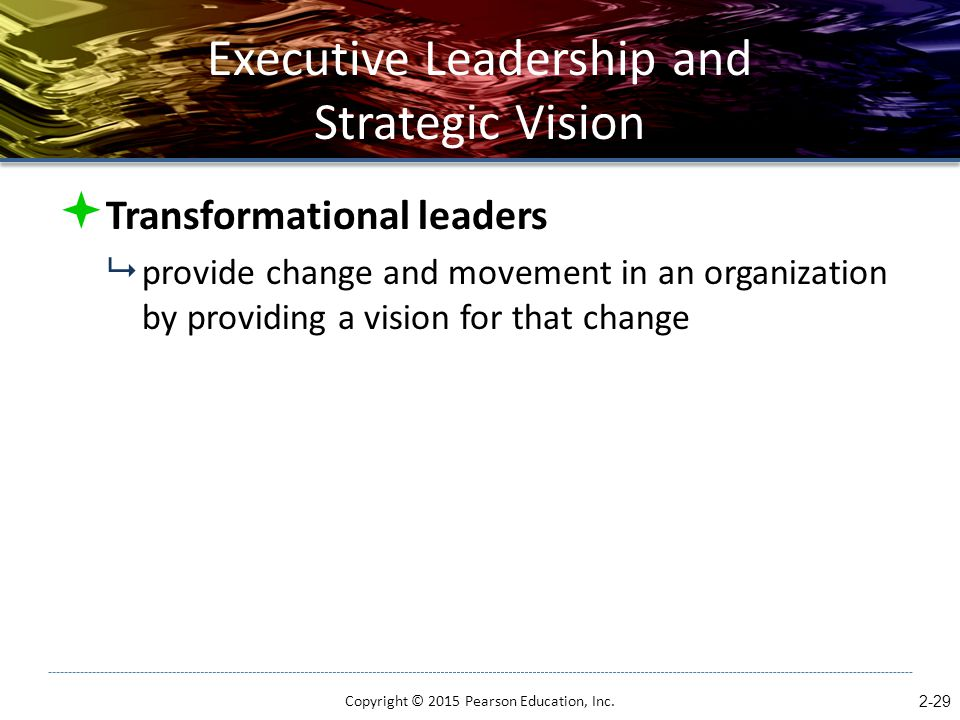 Executive Leadership and Strategic Vision