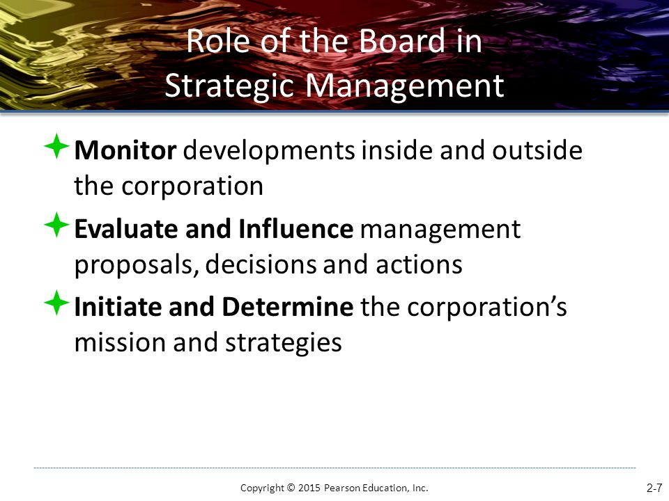 Role of the Board in Strategic Management