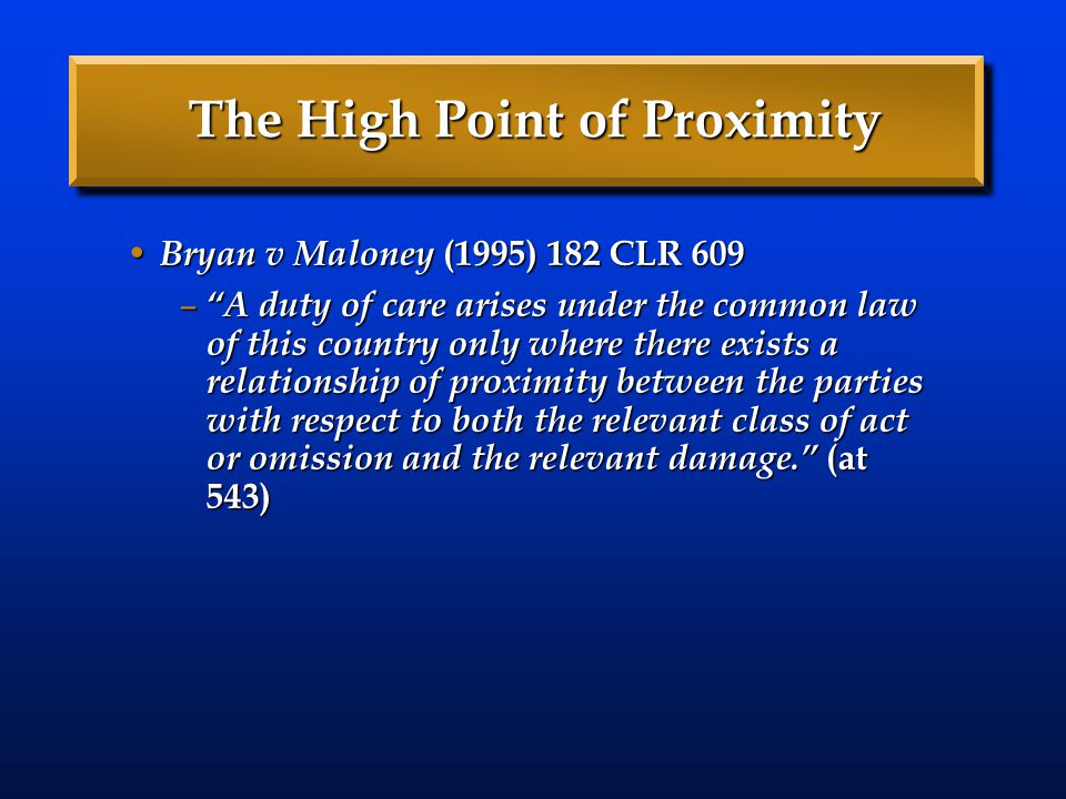 The High Point of Proximity