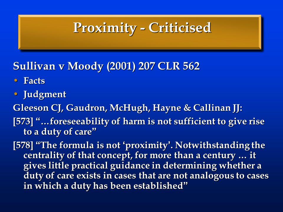 Proximity - Criticised